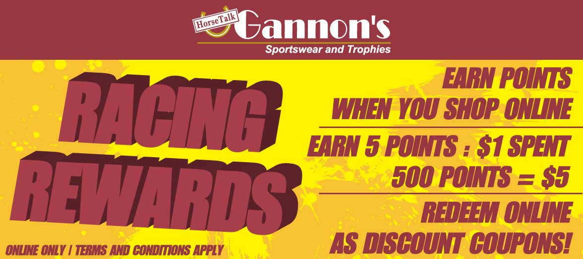 Gannon's Racing Rewards