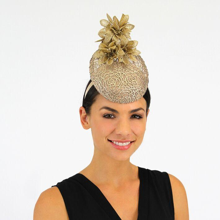 Jendi Fascinator (Gold)