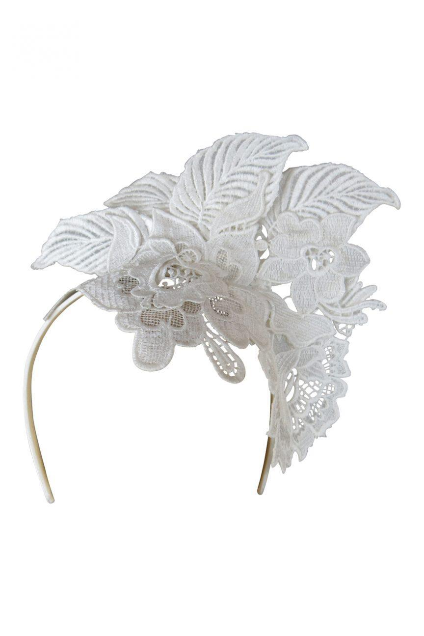 Mae Fascinator (White)