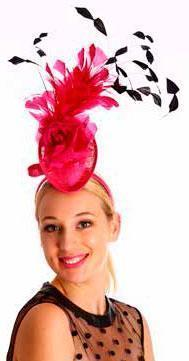 Instantly Fabulous Fascinator Hot Pink/Black