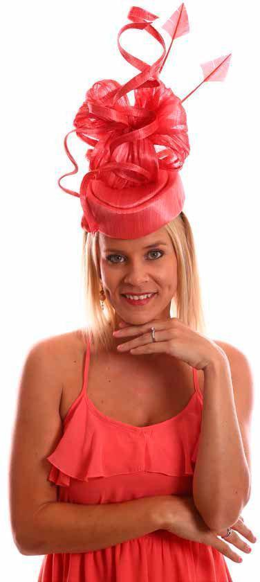 Instantly Fabulous Fascinator Nectarine