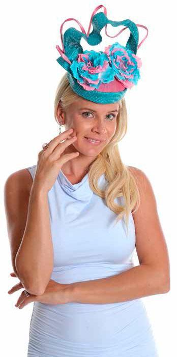 Instantly Fabulous Fascinator Baby Blue/Silver